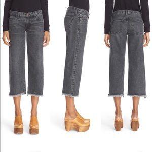 Simon Miller W005 Varra Wide Crop Jeans Frayed Hem